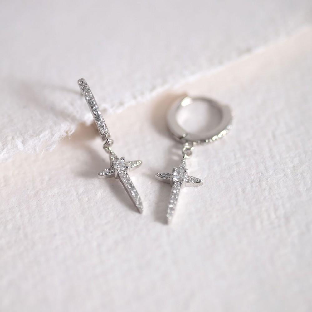 COURTNEY - Ring zirconia white cross...