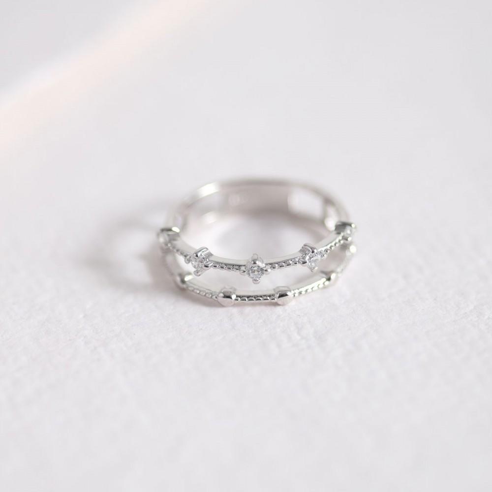 TIARA - Double ring zirconia and...