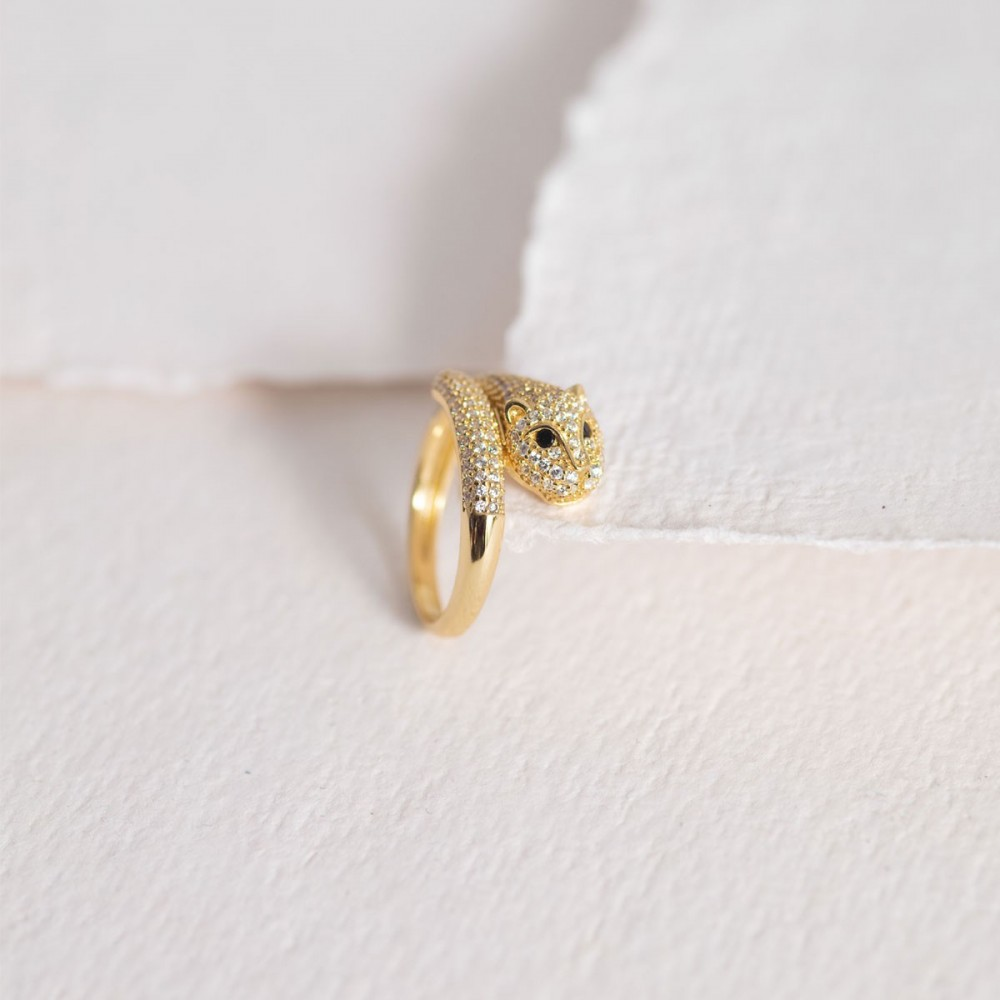 FELINA - Golden ring lioness zirconia