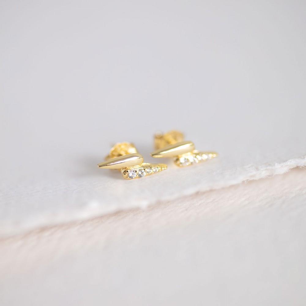 GARRA WHITE - Gold-tone mini claw...