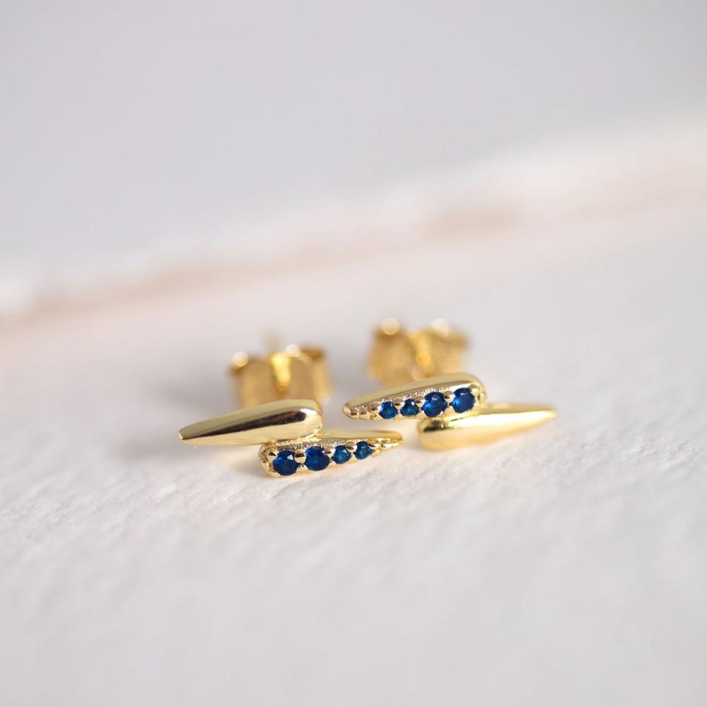 GARRA BLUE - Gold-Tone Mini Zirconia...