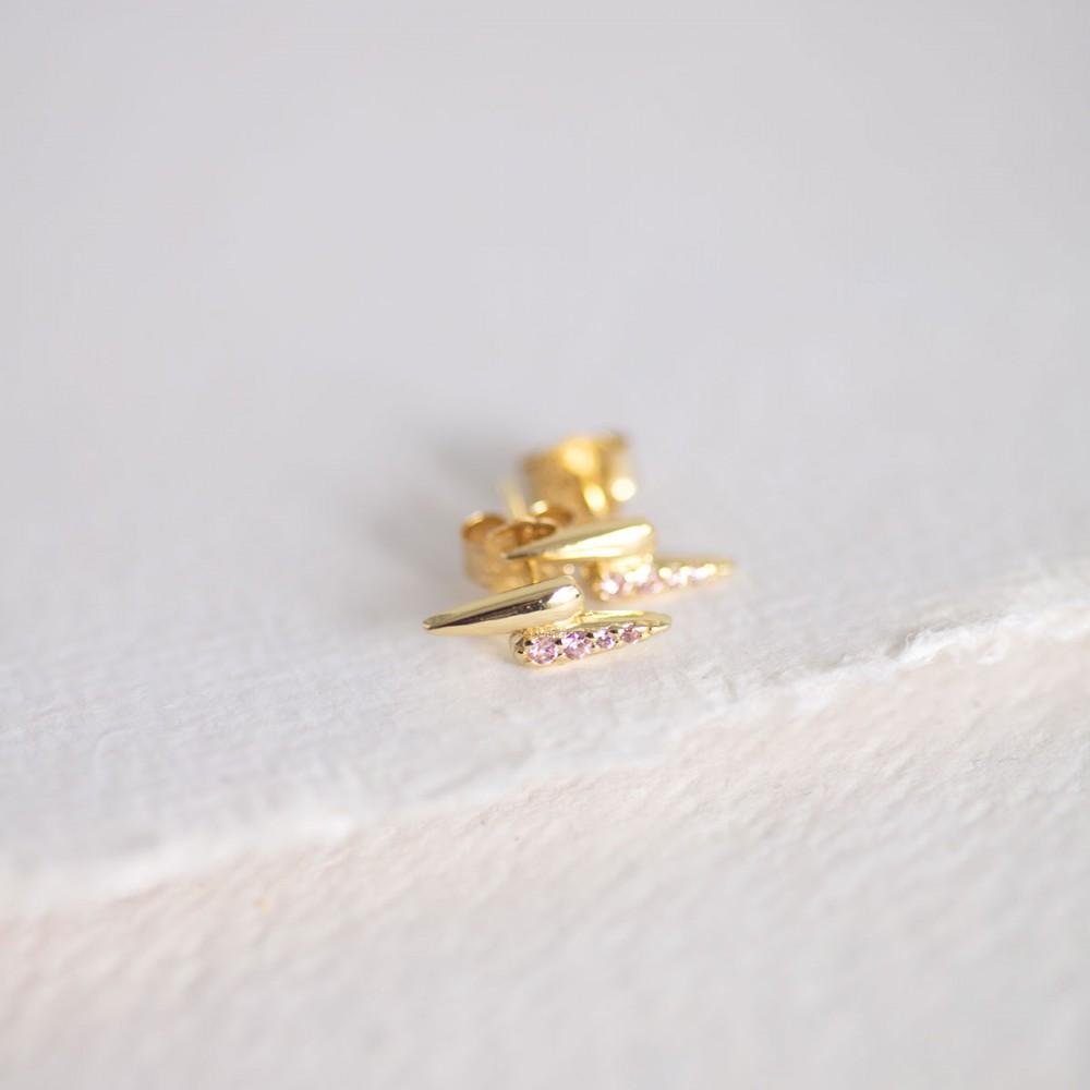 GARRA PINK - Gold-tone mini claw...