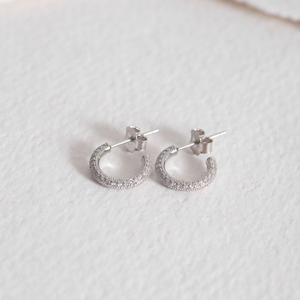LEONESSA WHITE - Silver Zirconia Earring