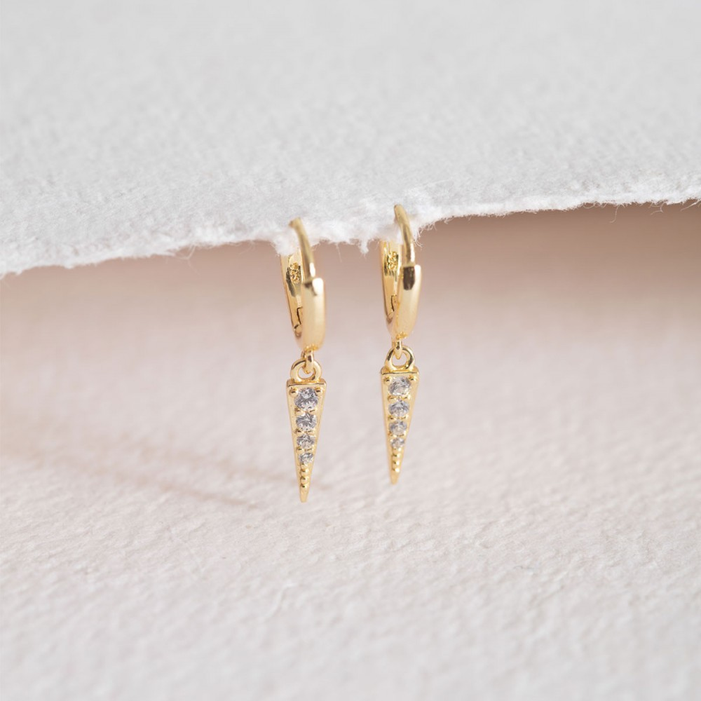 TINA ARO - Mini Golden Ring Earring...