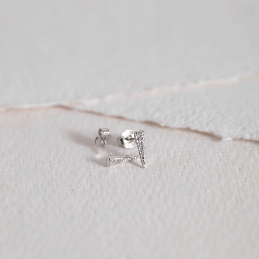 TINA - Mini Silver Triangle Zirconia...