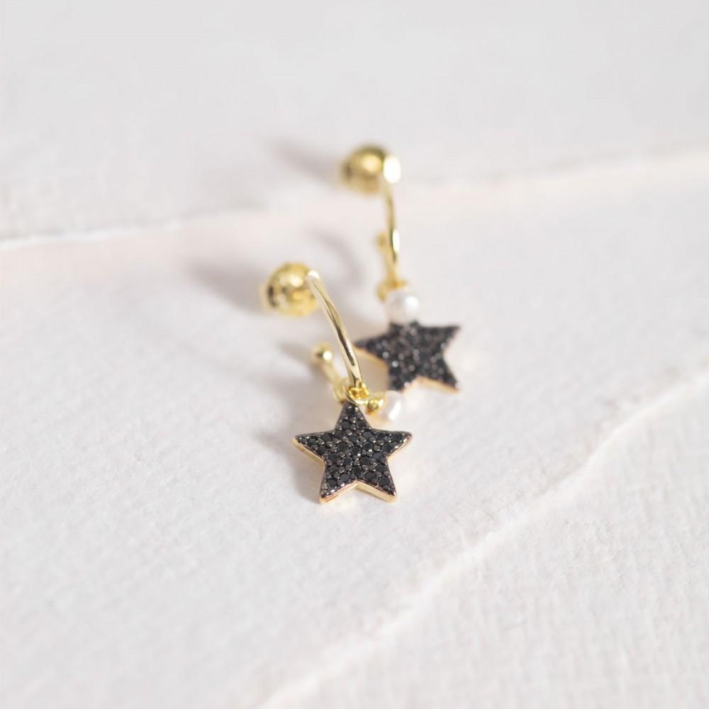 BANGLES STAR - Golden Zirconia Pearl...