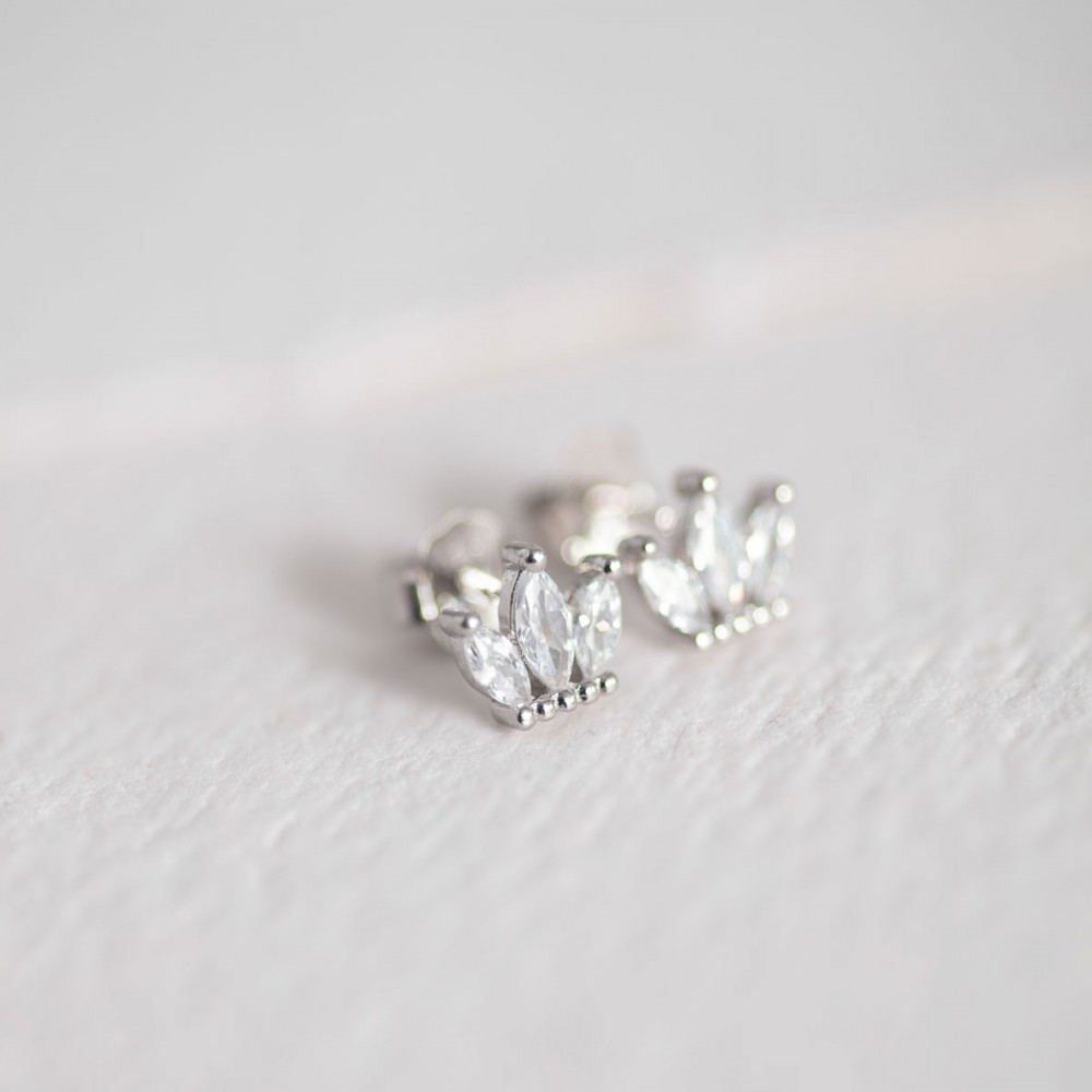 FREDDY - Mini silver crown zirconia...