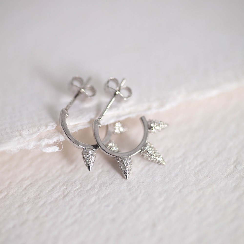 DONA - Triple Claw Earrings with...